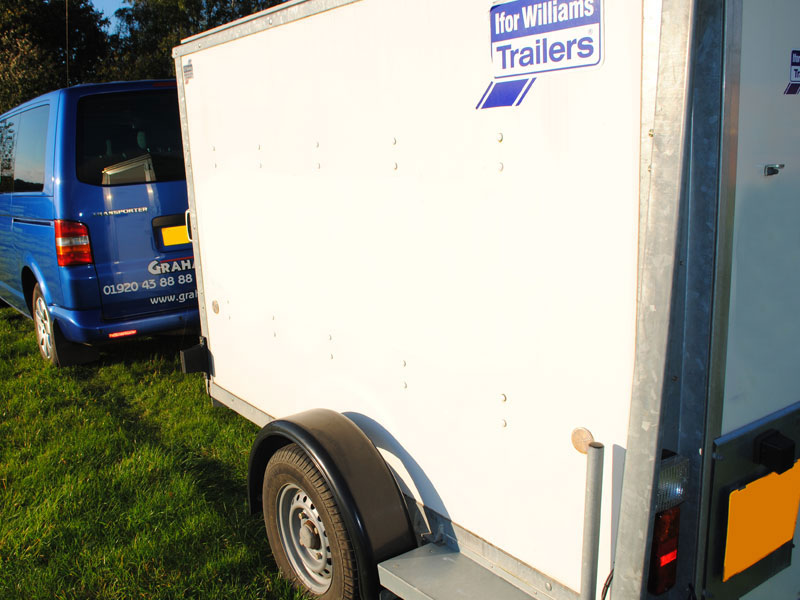 Watertight trailers for those unusual or large quantities of luggage.